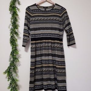 JESSICA SIMPSON metallic cotton aztec dress NWT XL